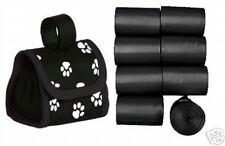 315 Pet Dog Waste Pick Up Poop Bags black & Free paw print Dispenser