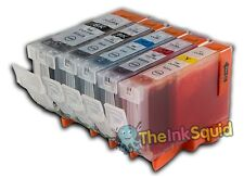 5 Compatible Canon PGI-5 CLI-8 Ink Cartridges PGI-5Bk