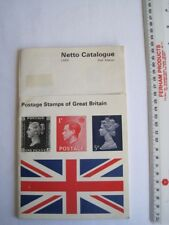Vintage Postage Stamps of Great Britain Book Netto Catalogue 2nd Edition 1969