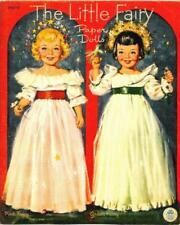 Vintage 1951 Little Fairy Paper Dolls~Uncut~8 Pages Clothing~#1 Reproduction
