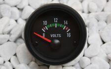 VOLTMETER INSTRUMENT 52mm 8-16V SCHWARZ Retro Look 16V G60 G40 VR6 TURBO S2 GT