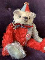 "12"" Artist Mohair Harlequin Clown Teddy Bear by Deb Beardsley"
