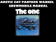 ARCTIC CAT PANTHER SERVICE MANUALs 540pg for 1974-1975 Wankel VIP Snowmobiles
