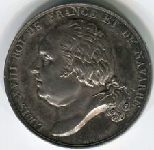 France: King Louis XVIII, silver piece by Gayrard, circ. 1820s, 27mm