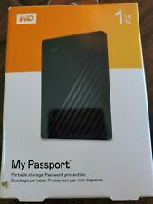WD 1TB Black My Passport Portable HD - USB 3.0 - WDBYNN0010BBK-WESN