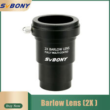 1.25'' Barlow Lens(2X) Multi Coated+ M42x0.75 Thread Camera Connect Interface