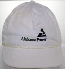 Vintage Alabama Power Electric Utilities Hat - Buckle Strapback Cap - White