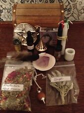 Wooden Discreet Witch Box Altar Spell Supplies  Wicca Pagan Metaphysical 05