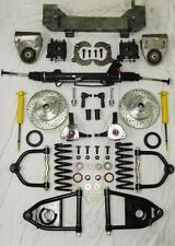 1949-54 Chevy Car Mustang II Power Front End Suspension Kit Stock Slotted Rotors