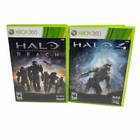 Halo 4 And Halo Reach - Xbox 360 Game CIB Tested Lot Of 2