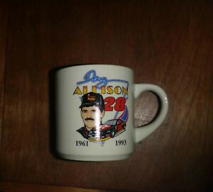 Vintage  Davey Allison  #28  NASCAR  1961 - 1993  Commemorative Coffee Mug Cup