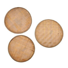 3 Größen Handmade Weaving Bambus Körbe Bambus Sieb traditionelle