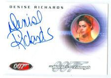 """DENISE RICHARDS """"DR CHRISTMAS JONES AUTOGRAPH CARD A69"""" JAMES BOND IN MOTION"""