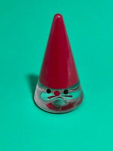 KOSTA BODA  Anna Ehrner Art Glass Noel Santa Gnome Signed AE/LT Cone Tree