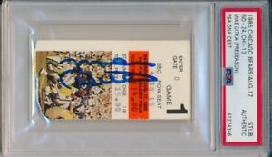 Mike Ditka Signed 1985 Chicago Bears vs Colts Ticket Stub PSA/DNA Autograph