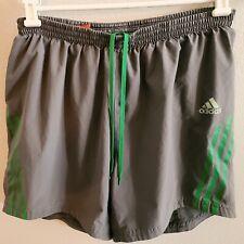 Adidas womens / girls supernova climacool sports shorts , gray & green pockets