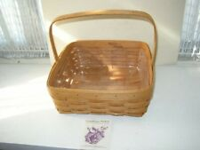 "Beautiful, Signed, Longaberger 12"" x 12""  Basket with Liner and Pamphlet"