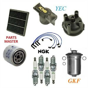 Tune Up Kit Filters Cap Wire Plugs For MITSUBISHI MIGHTY MAX L4 2.4L 1991-1994