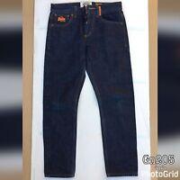 Superdry Mens Blue Acid Washed Denim Jeans W32 L30 Authentic Loose Fit