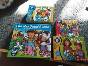 Orchard games bundle. 4 games. Shopping List, Lunchbox etc.