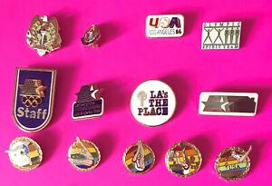 1984 OLYMPIC PIN LOS ANGELES PINS TEAM USA STAFF #G6 PICK A PIN 1-2-3 ADD 2 CART