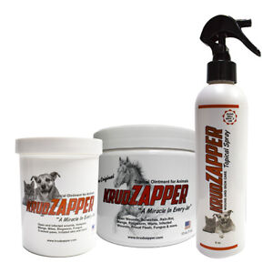 Krudzapper Animal Topical Ointment Wound Fungus Rainrot Ringworm