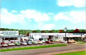 VOLKSWAGEN Auto Dealership, HARRISBURG, Pennsylvania, Car Advertising Postcard