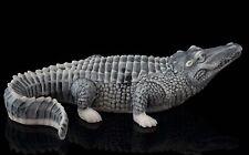 Crocodile Marble Figurine Russian Art Stone Sculpture Alligator Miniature Statue