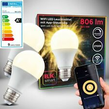 LED WiFi bombilla Smart Home lámpara regulable pera e27 Alexa Google 9w 2er set
