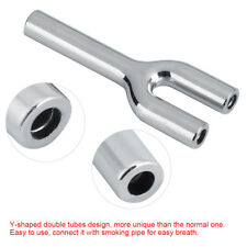 Double Barrel Two Hose Y-shaped Snuff Sniffer Sniff Bullet Pipe New Snorter