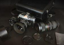 FUJICA ST705 appareil photo argentique+objectifs/malette/accessoires - Testé 👍