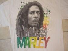 Zion Rootswear Bob Marley Jamaican Reggae Singer Portrait White T Shirt L