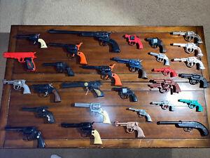 Vintage Cap Water Smoker Gun Pistol You Lot Of 29 - Cowboy Western