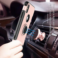 Shockproof Hybrid Magnetic Stand Ring Holder Case Cover for iPhone X XR XS MAX