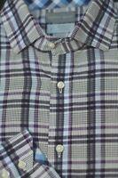 Thomas Dean Men's Navy & Blue Check Cotton Casual Shirt L Large
