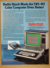 1981 TRS-80 Extended Color BASIC Computer & Modem I photo Radio Shack vintage Ad