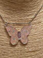 Fashion Jewellery pretty pink butterfly Necklace