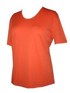 Schneider Sportswear Damen Shirt Pulli T-Shirt Kurzarmshirt Gr. 52 orange /lachs
