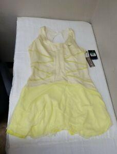 Nike Maria Sharapova Line 9 Knit Tennis Dress Size XL Yellow Style 409659 NEW