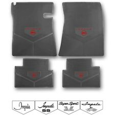 61-69 Impala Custom Rubber Floor Mats - Choose Logo and Color