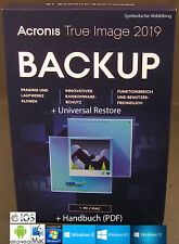 Acronis True Image 2019 Vollversion 1 PC/Mac + Universal Restore Download NEU