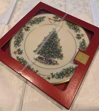 Lenox Christmas Trees Around The World Plate 2002-Netherlands-12th n Series Nib