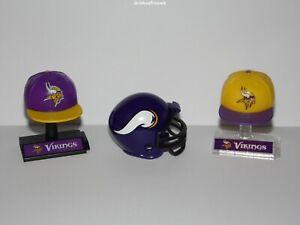 Minnesota Vikings NFL-2 x Mini-Kappe inkl. Displayständer + Mini Helm- B-Ware