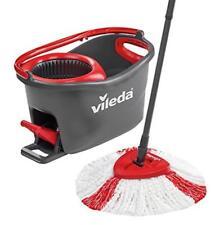 Microfibre Mop Vileda Easy Wring Floor Clean Turbo Bucket Set Pedal Operated NEW