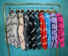 Designer Letters Men Women Crew Neck Pullover Loose Jumper Knitting Sweater Tops