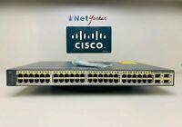 Cisco WS-C3750V2-48PS-E - 48 Port PoE Ethernet Switch - SAME DAY SHIPPING