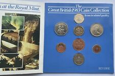 More details for 1983 error great british coin collection year set packaging error no new pence
