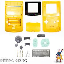 Gameboy Color Gehäuse Display Game Boy Batterie Deckel Tasten Case Shell Gelb