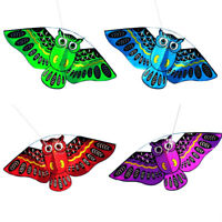 3D Owl Kite Ids Toy Fun Outdoor Flying Activity Game Children Kids With Tail