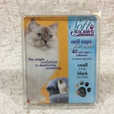 Soft Claws CLS 40 Nail Caps + Adhesive For Cats Small 6-8 lbs Black 2473202